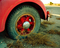 TIRE AND TUMBLEWEED (International fire truck) (Notrees TX)