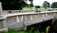 MOTORCYCLE BEFORE BRIDGE (Lincoln Highway Tama IA)
