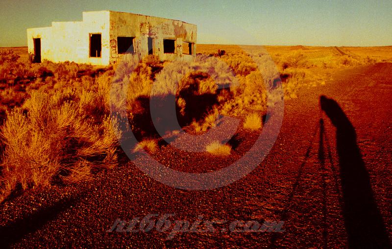 WAITING FOR THE LIGHT (Rt 66 Painted Desert AZ)