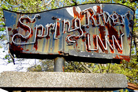 SPRING RIVER INN SIGN (Rt 66 Riverton KS)