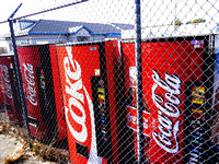 FENCED OFF COKE MACHINES (Rt 66 Amarillo TX)