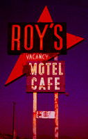 ROY'S SIGN #4 WEST SIDE AT SUNSET (Rt 66 Amboy CA)