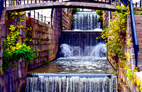 HANGING BASKETS & WATERFALLS (Erie Canal Lockport NY)