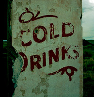 COLD DRINKS SIGN, WEST WALL (Rt 66 Painted Desert AZ)