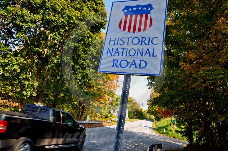 RURAL SCENE (National Road nr West Alexander PA)