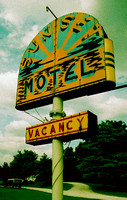 SUNSET MOTEL SIGN  (Rt 66 Villa Ridge MO)