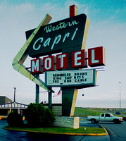 WESTERN CAPRI MOTEL SIGN (Rt 66 Tulsa OK)