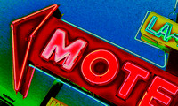 LA-MOTEL, HAPPY MOTORING! (Rt 66 Santa Rosa NM)
