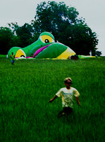 RUNNING BOY & FROG BALLOON (nr Longview TX)