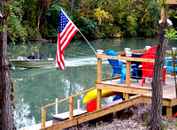 BOAT, FLAG & WAKE (Erie Canal nr North Tonawanda NY)