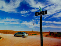 PRIUS AND RT 66 SIGN (Rt 66 nr Endee NM)