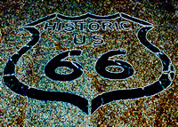 HISTORIC 66 SHIELD (Rt 66 Oatman AZ)