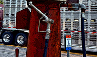 PUMP & CATTLE TRUCK (Lincoln Highway Belle Plaine IA)