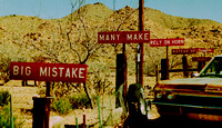 ORIGINAL BURMA-SHAVE SIGNS (Rt 66 Hackberry AZ)