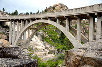 ROCK FRAMING (Lincoln Highway Donner Pass CA)