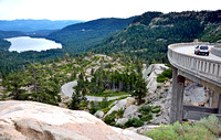 DOWNHILL CURVE (Lincoln Highway Donner Pass CA)