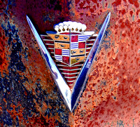 CADILLAC CREST ON RUST (1947) (Rt 66 White Oak OK)
