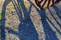 TWO SHADOWS, ONE WHEEL (Lincoln Highway Big Springs NE)