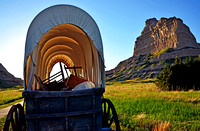 COVERED WAGON AT SUNSET (Gering NE)