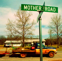 MOTHER ROAD SIGN AND TRUCK (Rt 66 Chandler OK)