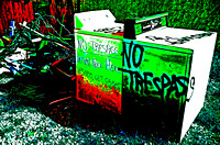 NO TRESPASS WASHER & DRYER (SOLARIZED) (Rt 66 Galena KS)