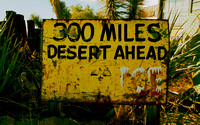 300 MILES DESERT AHEAD (Rt 66 Hackberry AZ)