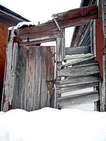 ROOFLESS SHED IN SNOW (Grant MI)