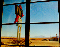 ROY'S SIGN #2 MOTEL FRONT WINDOW (Rt 66 Amboy CA)