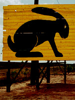 JACKRABBIT SIGN DETAIL (Rt 66 Jackrabbit AZ)