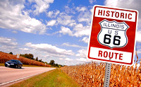 HISTORIC ROUTE IN CORN (Rt 66 nr Mt. Olive IL)