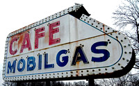 CAFE/MOBILGAS SIGN (National Road Casey IL)
