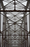 SUPERSTRUCTURE IN FOG (Rt 66 Chain of Rocks Bridge IL/MO)
