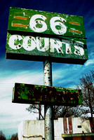 66 COURTS SIGN (Rt 66 Groom TX)