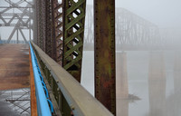 THE BEND IN FOG (Rt 66 Chain of Rocks Bridge IL/MO)
