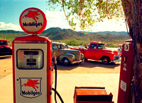 GAS PUMPS AND VEHICLES (Rt 66 Hackberry AZ)