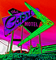 CAPRI MOTEL SIGN (SOLARIZED) (Joplin MO)