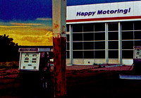 HAPPY MOTORING! AT SUNSET (Rt 66 Santa Rosa NM)