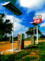 PHILLIPS 66 PUMPS & SIGN (Rt 66 Adrian TX)