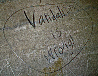 VANDALISM IS WRONG (Nacogdoches TX)