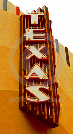 TEXAS THEATER SIGN (West TX)