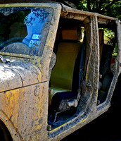 MUDDY NO-DOOR JEEP (Nacogdoches TX)