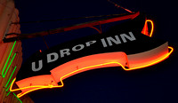 U-DROP INN SIGN DETAIL (Rt 66 Shamrock TX)
