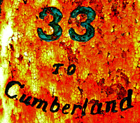 33 TO CUMBERLAND (MILE MARKER DETAIL) (National Road Western MD)