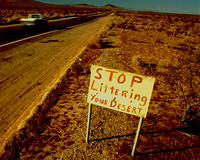 STOP LITTERING YOUR DESERT (Rt 66 CA)
