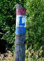 OLD PAINTED SIGN ON POLE (Lincoln Highway Elkhorn NE)