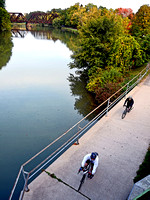 TWO CYCLISTS (Erie Canal Pittsford NY)